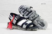 Босоножки мужские серые с синим Nike Sandals  Off white x Nike Air VaporMax 5540