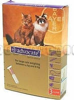 Капли Адвокат для кошек до 4кг 0,4 мл (1 пипетка) BAYER