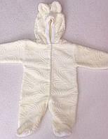 Комбинезон - человечек вельсофт махра 68-74-86 см.