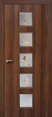 Дверь МДФ Альта 5 стекло с контурным рисунком