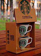 """Набор чашек """"Starbucks"""".1992. Присутствует деффект + МЯТАЯ УПАКОВКА"""