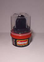 Крем-блеск SHOW для обуви черный из натурального воска 50 мл