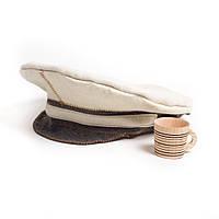 Шапка для сауны Дембель комбинированный натуральный войлок, Saunapro