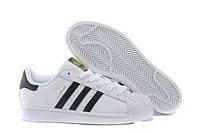 Мужские кроссовки Adidas Superstar White Gold белого цвета, фото 1