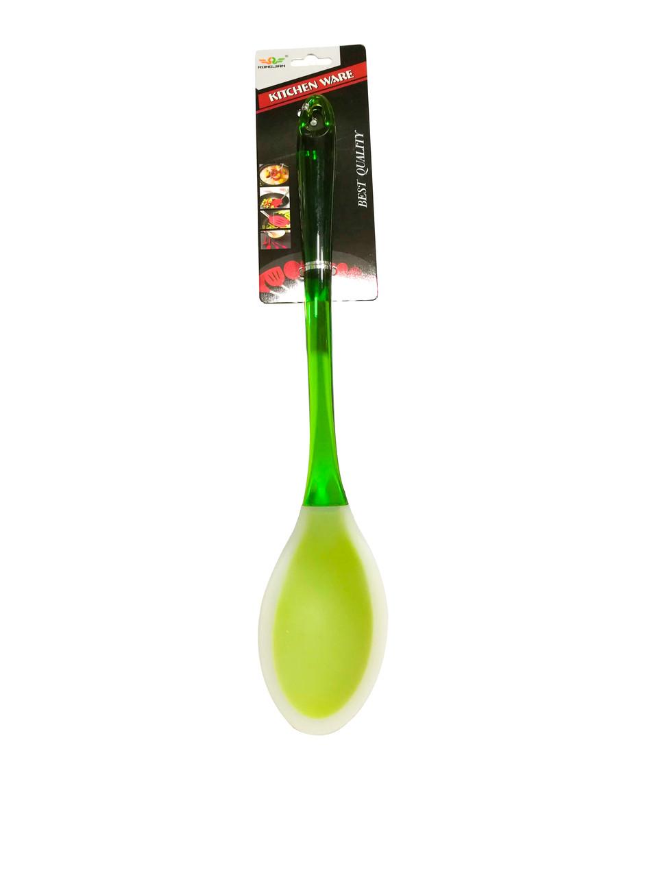 Ложка гарнирная силиконовая с пластиковой ручкой