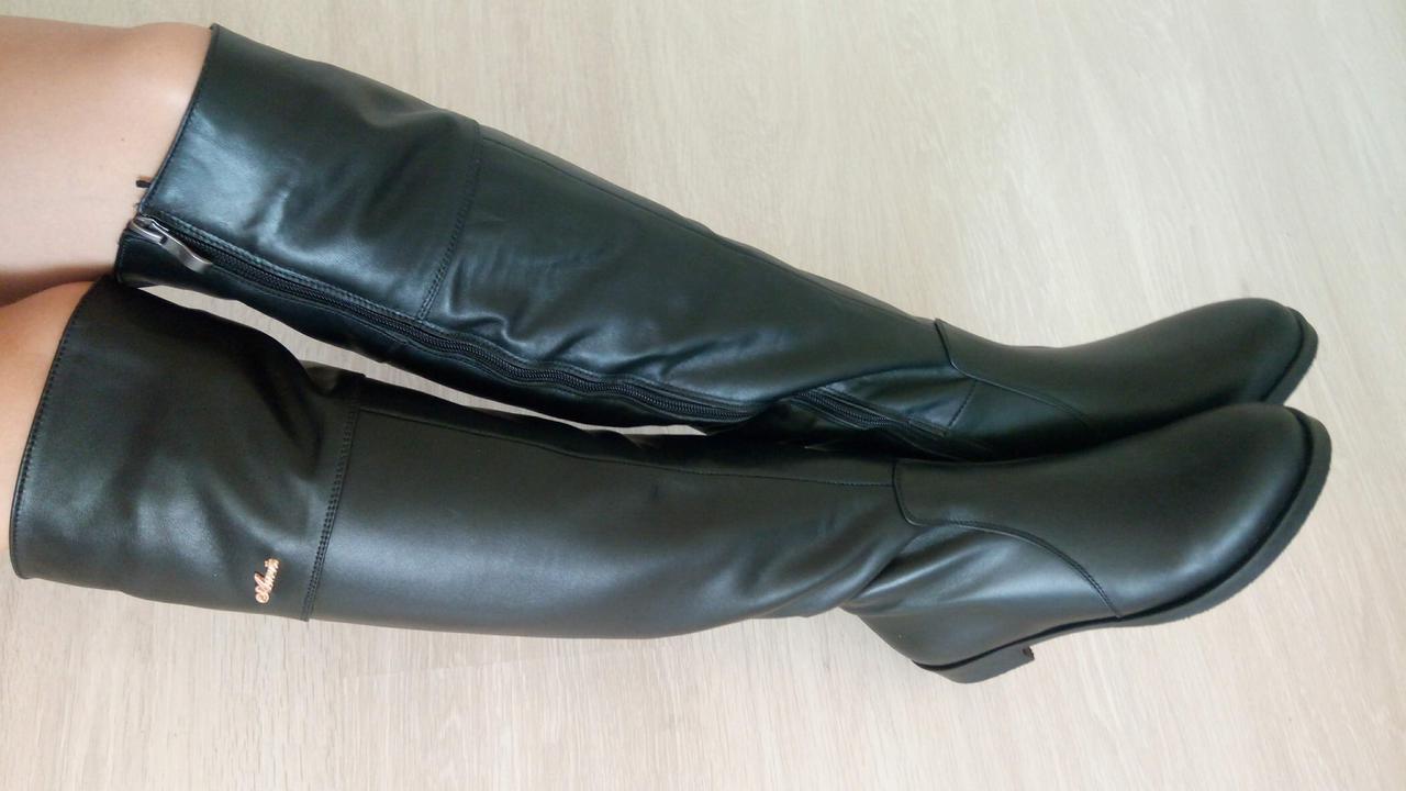 Женские зимние сапоги-ботфорты Aur кожа (36-41)