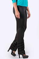 Прямые брюки с бархатной накаткой Анди (черный) большого размера 54-64 батал, фото 1