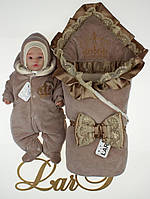 """Зимний набор для новорожденных """"Очарование"""", (молочный шоколад), фото 1"""