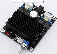 Усилитель D-клас, 2*100Вт TDA7498 DC 14-36V підсилювач звука аудіо стерео авто мото