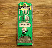 Стальная шерсть, вата ,3, Steel Wool, 200 грамм, Elephant