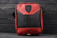 Мужская барсетка PUMA FERRARI, сумка через плечо ПУМА, мессенджер, цвет красный