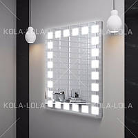 Зеркало для ванной комнаты с LED подсветкой 600*800 с рисунком D9