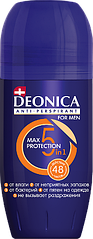 Deonica FOR MEN 5В1 MAX PROTECTION Роликовый Антиперспирант 50 мл.