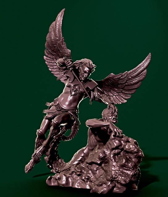 3d прототип композиции Архангела Михаила