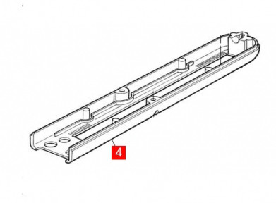 Корпус MB4000, WG4000 передний нижний (BMGWABR04.45673)