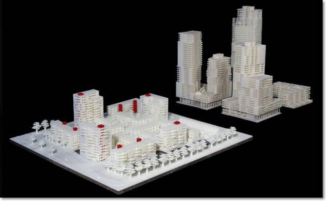 3D -печать архитектурного проекта квартала города