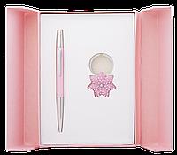 """Набор подарочный """"Star"""": ручка шариковая + брелок, розовый LS.122014-10 Langres"""