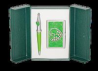 """Набор подарочный """"Crystal Heart"""": ручка шариковая + визитница, зеленый LS.122008-04 Langres"""