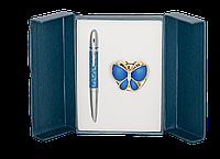 """Набор подарочный """"Papillon"""": ручка шариковая + крючок д сумки, синий LS.122010-02 Langres"""