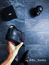 Кроссовки мужские Adidas Continental 80 (черные) Top replic, фото 2