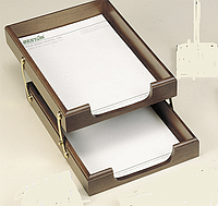 Лоток для документов горизонтальный, двойной, орех 1468XDX Bestar