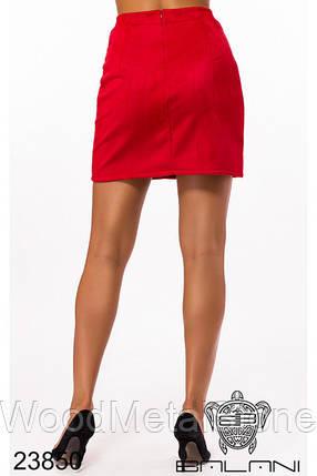 Замшевая женская юбка 42-46, доставка по Украине, фото 2