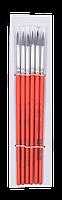 Кисть белка круглая №6, в блистере 6 шт ZB.6930SQR-6 ZiBi (импорт)