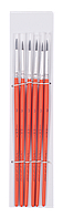 Кисть белка круглая №3, в блистере 6 шт ZB.6930SQR-3 ZiBi (импорт)