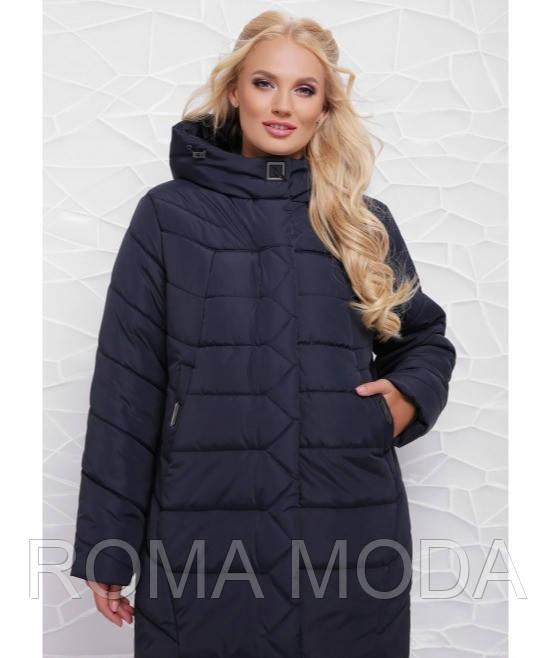 Удлиненная женская куртка зимняя в 3х цветах ML-064/1 размер 50-58