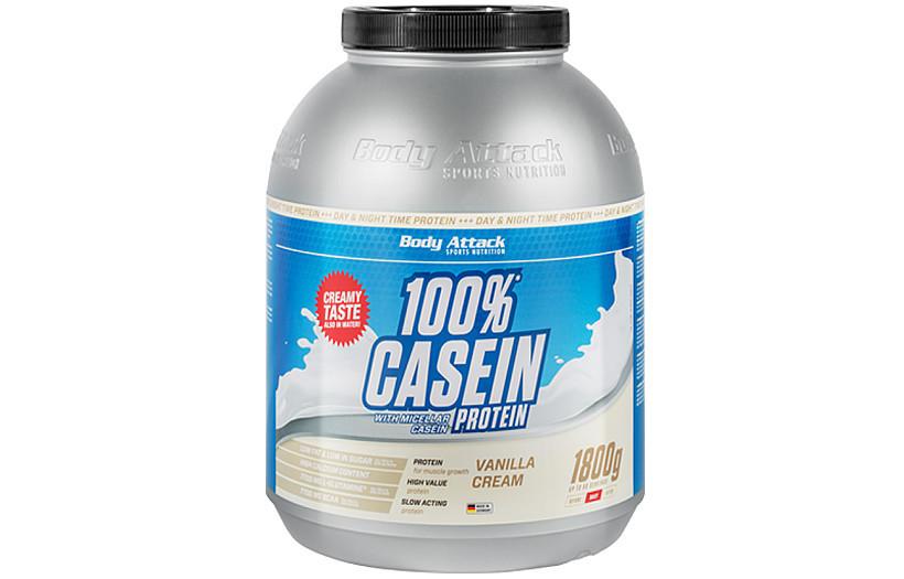 Казеиновый Протеин Body Attack 100% Casein Protein  - 1,8  kg. (БАНАН)