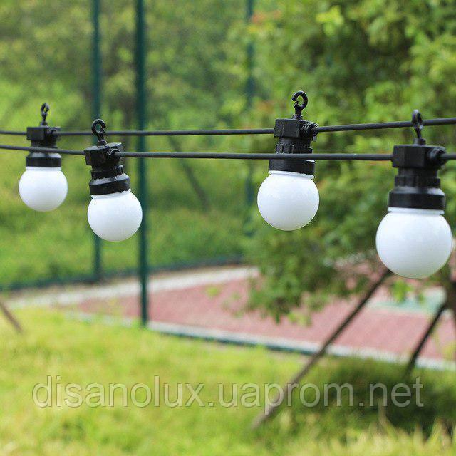 Гирлянда LED  уличная 5м+3м 10ламп шарик 50мм IP65