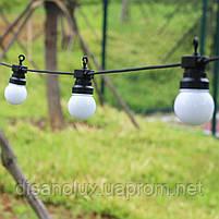 Гирлянда LED  уличная 5м+3м 10ламп шарик 50мм IP65, фото 4