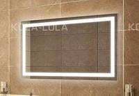 """Зеркало для ванной комнаты с LED подсветкой 1200*700 с рисунком """"JANVIER"""" D29 с включателем кнопкой"""