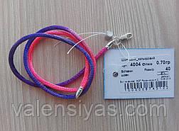 Шнурок шелковый с серебряной застежкой, фото 2