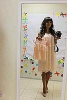 """Повседневно - нарядное платье на маму и доченьку (в стиле Фемели Лук) """" пудровый гипюрчик"""""""