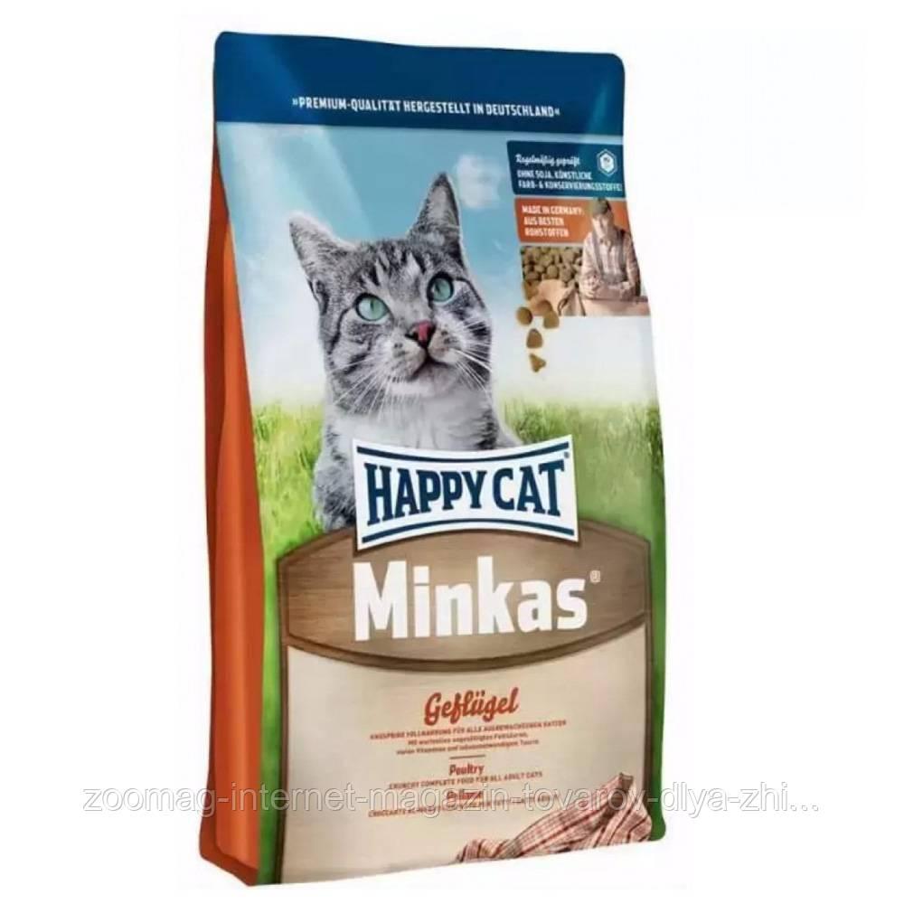 Сухой корм Happy Cat Minkas с птицей для котов 10 кг.