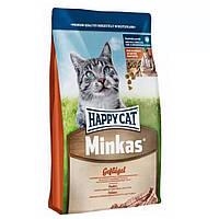Сухой корм Happy Cat Minkas с птицей для котов 10 кг.