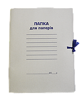 Папка на завязках картонная А4 BUROMAX, картон 0,35 мм, клееный клапан BM.3356 Buromax (отеч.пр-во)
