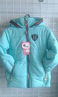 Детская деми куртка, размер 98-116, голубой