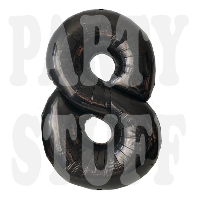 шарик фольгированный цифра черная
