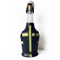 Подарок пожарному Бутылка сувенир ко дню пожарной охраны спасателя МЧС Ручная работа, фото 1