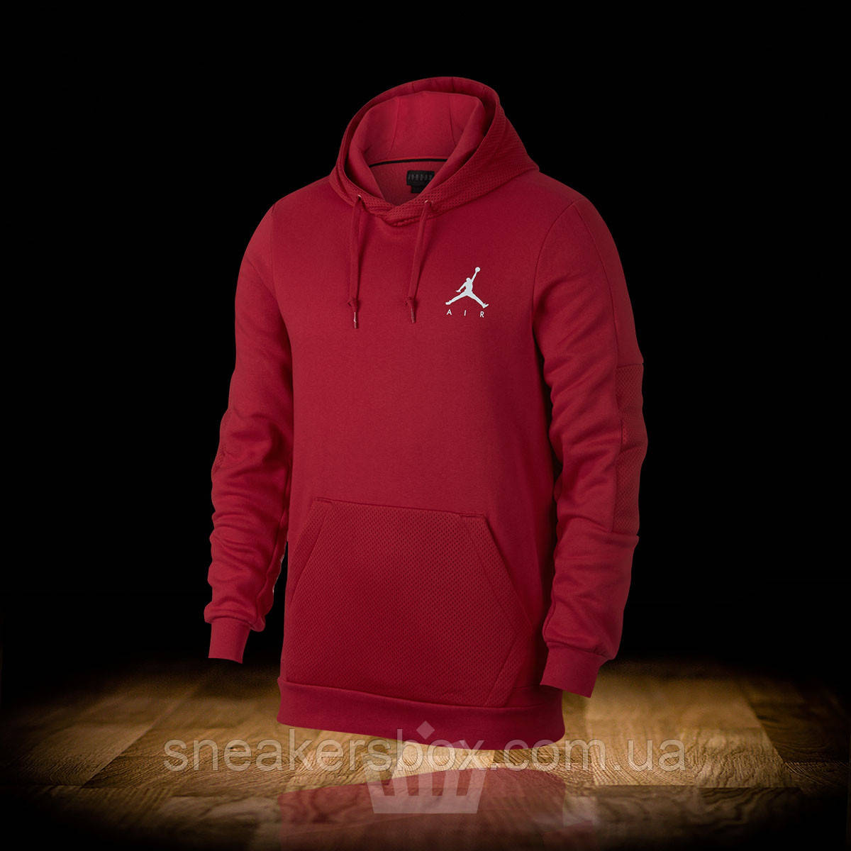 ee71a7c9fe9a Толстовка NIKE AIR JORDAN JUMPMAN HYBRID FLEECE HOODIE GYM RED (939986-687)