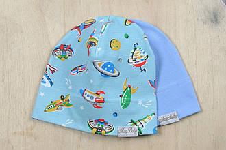 Набор трикотажных шапок, Космос, 3 размера, 42-54 см