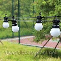 Гирлянда LED  уличная 10м+3м 20ламп шарик 50мм IP65, фото 4