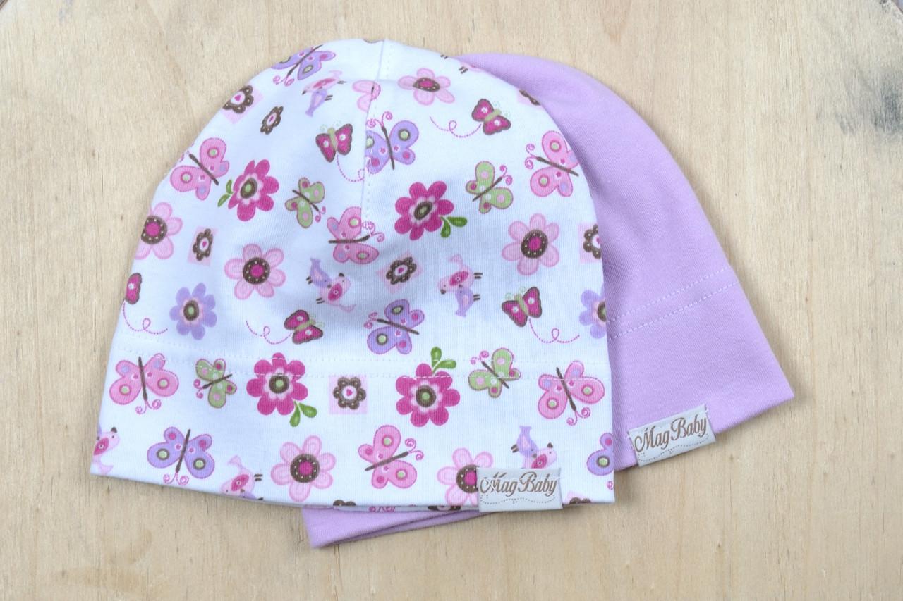 Набор трикотажных шапок, Цветы