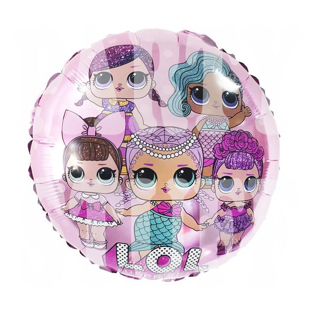 Фольгированный шарик Lol розовый