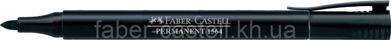 Маркер перманентный Faber-Castell SLIM 1564 черный, 156499