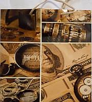 Пакет подарочный бумажный квадрат 23х24х10 (24-116)