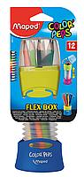Карандаши цветные, 12 цветов, раздвижной пенал COLOR PEPS Flex Box, Maped