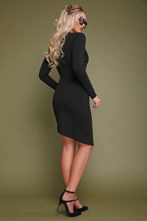 Черное платье на запах короткое, фото 2
